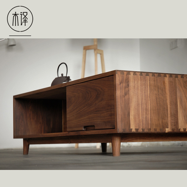 Oak wood furniture [translation] wood black walnut wood furniture oak wood coffee table  minimalist nordic chinese JHGSDIQ
